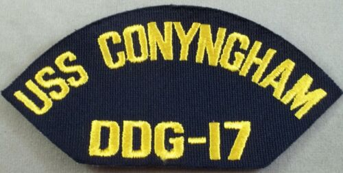 Guided Missile Armed Destroyer US Navy Cap Patch USS Conyngham DDG-17