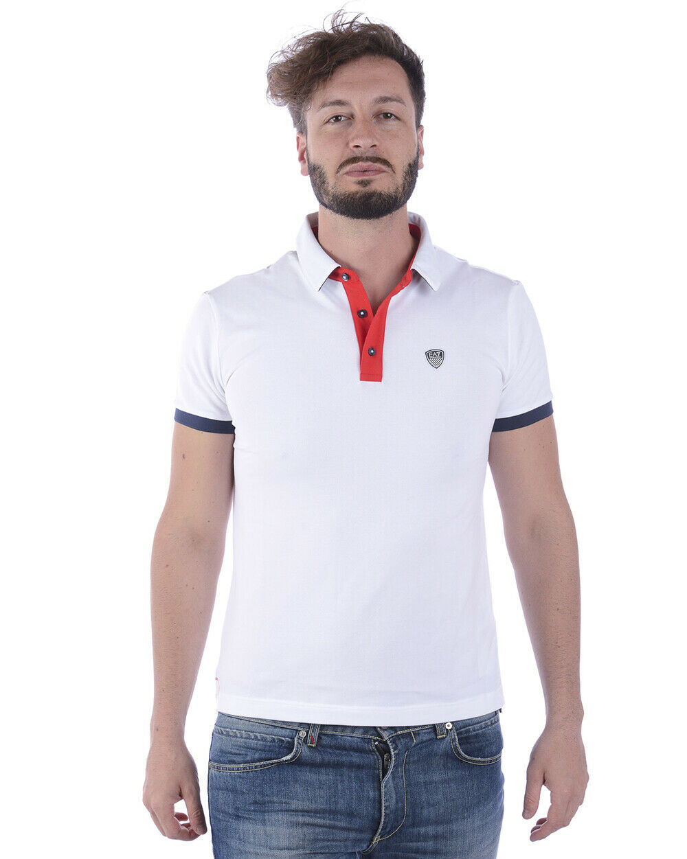 Emporio Armani EA7 Polo Shirt Cotton Man Weiß 3ZPF58PJ04Z 1100 Sz M MAKE OFFER