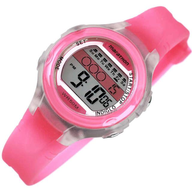 15d1df07eebd Timex Mujer Tamaño Mediano Indiglo Marathon Multifunción Reloj Deportivo  Rosa