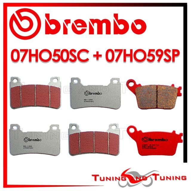 PASTILLAS BREMBO DELANTERO SC + TRASERO SP HONDA CBR 1000 RR 2014 2015 07HO50SC