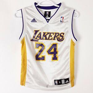 Adidas Kobe Bryant #24 LA Lakers Youth Kids White Jersey Size ...