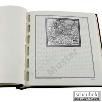 Zubehör Briefmarken Besorgt Schaubek Briefmarkengeographie Geographie-kartenblatt Schwarz-weiß Af17-kbs