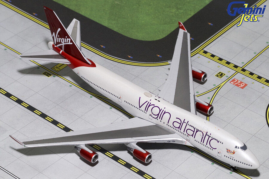 punto de venta Gemini Jets 1 400 Virgin Virgin Virgin Atlantic Boeing 747-400 G-vbig gjvir 1799 En Stock  apresurado a ver