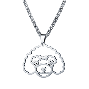 Stainless-Steel-Standard-Mini-Toy-Poodle-Caniche-Pudelhund-Pet-Dog-Charm-Pendant