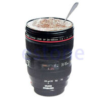 NEW 24-105MM LENS THERMOS CAMERA TRAVEL COFFEE TEA MUG CUP