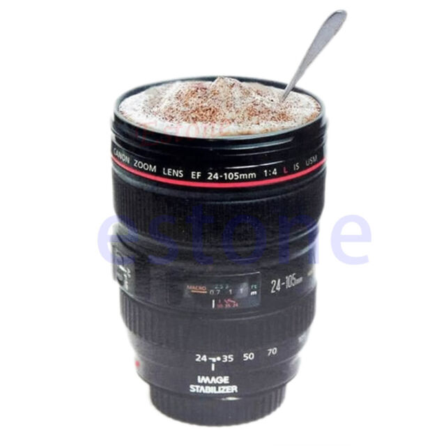 Camera Lens Liner Travel Thermal Coffee Cup EF 24-105mm Mug Tea Vacuum Bottle