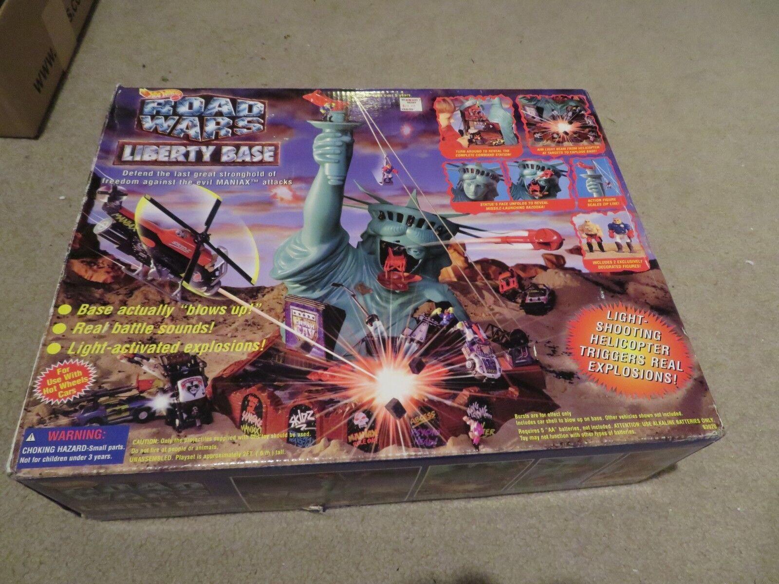 Hotwheels Road était Liberty base Playset 1995 Menthe en Boîte Scellée voir ma boutique
