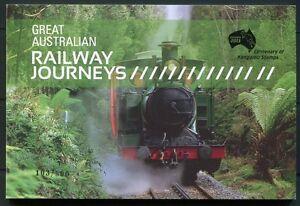 Australia-Australia-2010-ferrovia-TRAINS-RAILWAYS-ungezahnt-Libretto-di-marca-451b