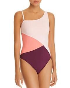 MSRP-119-Bleu-Rod-Beattie-Around-The-Block-Asymmetric-One-Piece-Swimsuit-Size-4