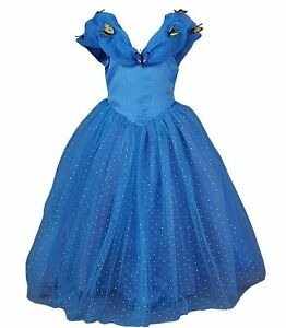 Jerris-Apparel-Cinderella-Princess-Prom-Pageant-Dress-Blue-Butterfly-5-Years-New
