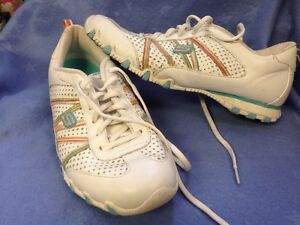 Skechers Size 10 Sneakers White Blue Rainbow Colors