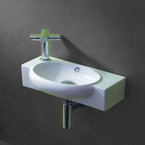 Details Zu Lux Aqua Gäste Wc Klein Wand Hänge Waschtisch Waschbecken Wandmontage 4522t