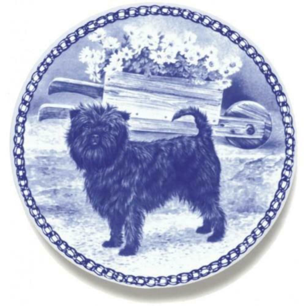 Affenpinscher - Dog Plate made in Denmark from the finest European Porcelain