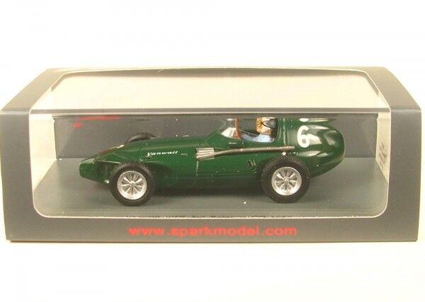 Vanwall vw57 nº 6 3rd Belgian gp formula 1 1958 (Stuart Lewis-Evans)