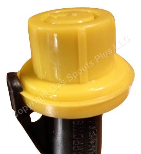 4pcs total NEW Combo Pk 2 BLITZ Yellow Spout Caps 2 YELLOW GAS CAN VENT CAPS