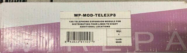 NEW WITH BOX Wirepath Telephone Master Hub WP-MOD-RJ45-TEL1X12