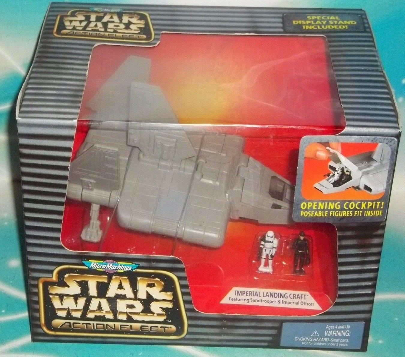 Star Wars Action Fleet Series  Imperial Landing Craft W SANDTROOPER & OFFICIER  vente pas cher
