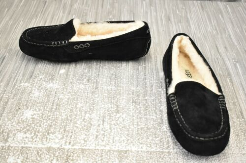 UGG Ansley Moccasin Slippers, Women's Size 7, Blac