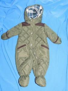 Rothschild-6-9-Mo-Olive-Green-Brown-Baby-Boy-Snowsuit-Bunting-Coat-Hood-6-9M