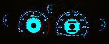 For Toyota MR-2 Non-Turbo 91-95 Euro Reverse Gauge Glow Red Blue Inverter Kit
