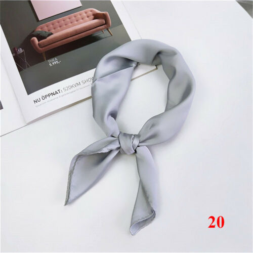 Women/'s Charm Solid Candy-Color Kerchief Scarf Small Square Office Soft Scarve