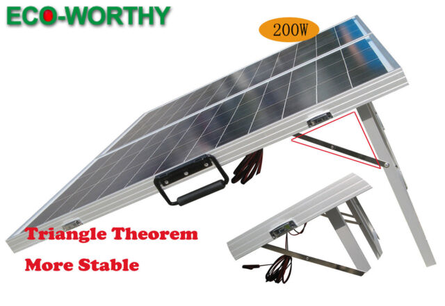 200W Solar Powered Folding Portable Solar Panel for Caravan Trailer Camping RV