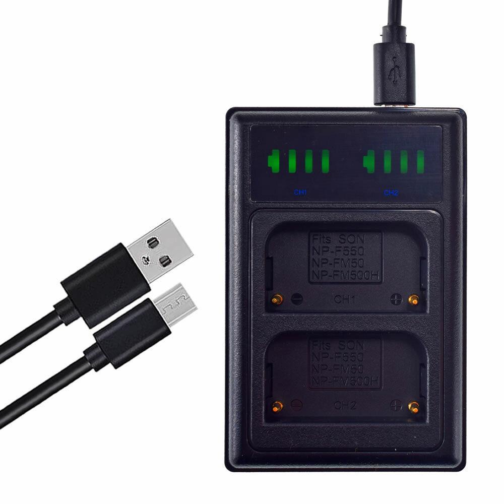 USB NP-FM500H Battery Charger For Sony a200 a300 a350 a700 Alpha a58 Alpha a99