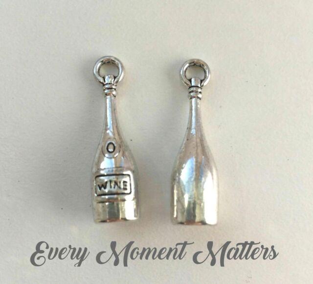 5 Pcs//set Tibetan Silver Charms Pendant Bracelet Jewelry Making DIY Gift Party
