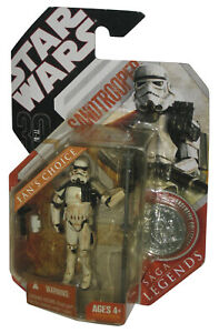 Star Wars Saga Legends 30th Anniversary Sandtrooper (2007) Hasbro Figure w/ Coin