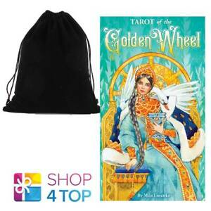 TAROT-OF-THE-GOLDEN-WHEEL-CARDS-DECK-US-GAMES-SYSTEMS-MILA-LOSENKO-WITH-BAG-NEW