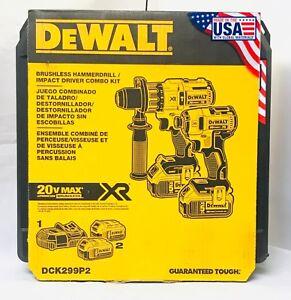 Dewalt-20V-DCK299P2-Brushless-Combo-Kit-2-Tool-5-0Ah-DCD996-DCF887-NEW