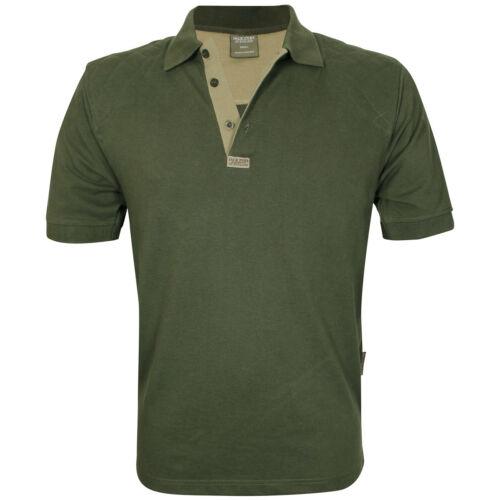 Jack Pyke Sporting Polo Shooting Shirt Shooters Hunting Mens Top Olive Green