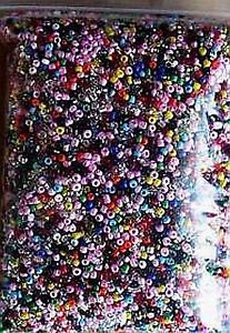 5 OZ BAG ASSORTED COLORS GLASS SEED BEADS