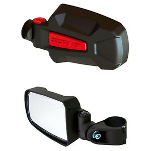 Seizmik Pursuit Elite Red Inserts Hd Aluminum Side Mirror
