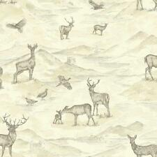 NEW ARTHOUSE BANCROFT VINTAGE WATERCOLOUR STAG DEER COUNTRYSIDE WALLPAPER ROLL