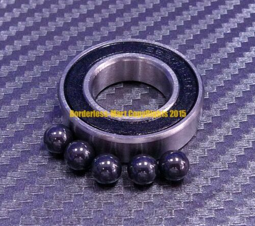 12x28x8 mm Hybrid Ceramic Rubber Ball Bearing Bearings 6001RS 6001-2RS QTY 4
