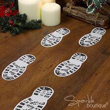 BABBO NATALE / SANTA Boot STAMPE-Xmas EVE decorazione-Artigianato intervallo in negozio