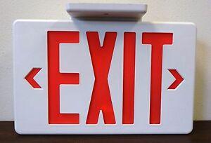 Led Battery Backup Red Exit Sign 120 277 Vac Ebay