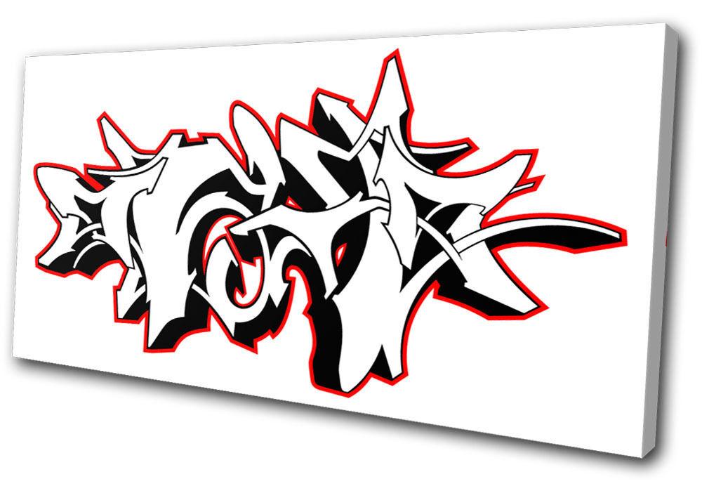 Graffiti Abstract SINGLE Leinwand Wand Kunst Bild drucken