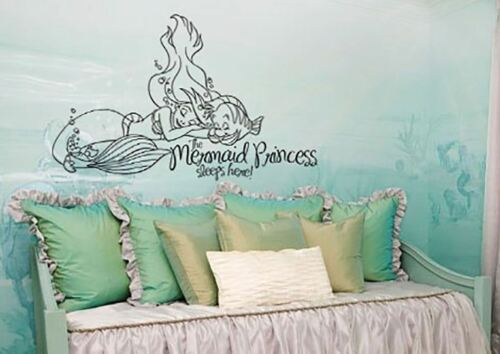 Inspiré par la petite sirène mur Decal autocollant princesse dort ici