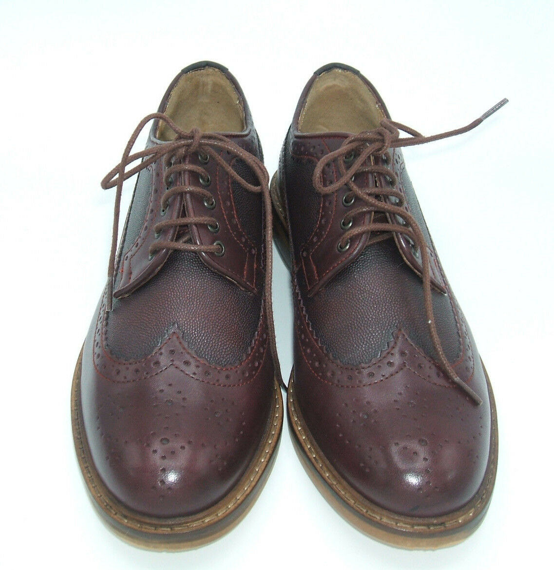 Herren BEN SHERMAN SIZE 40 DEON LONGWING OXBLOOD LEATHER LACE BROGUES LACE LEATHER UP Schuhe 911b94