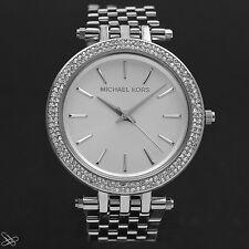 Michael Kors MK3190 Darci Damen Armbanduhr Farbe: Silber mit Kristall Besatz