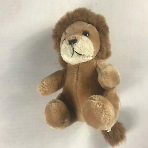 Logo-Bear-Plush-Lion-VTG-1985-Stuffed-9-034-Cute-Cuddly-Kids-Toy-80s-Collectible