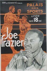 """""""JOE FRAZIER PALAIS des SPORTS LYON 1971"""" Affiche originale entoilée 81x124cm KsyGIaIZ-07165602-270057558"""