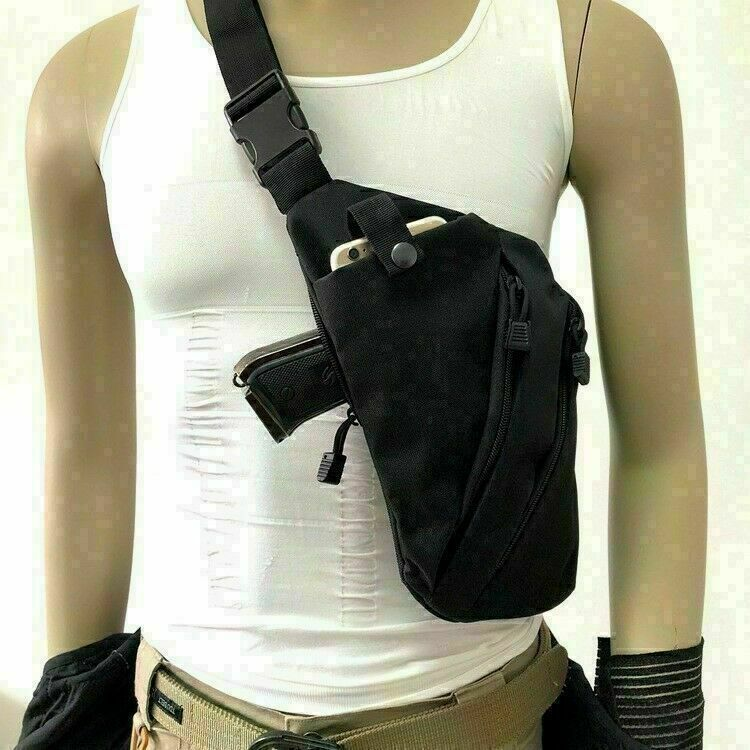 Tactical Invisible Chest Sling Bag Anti-theft Thin Agent Gun Holster Pouch USA