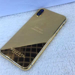 super popular 10b91 256e7 Details about 24K Gold Limited Edition Plated Back Cover Case For iPhone X
