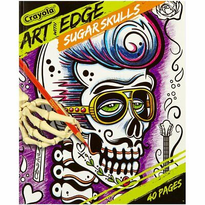 - Crayola Art With Edge Sugar Skulls Coloring Book 40 Pgs 8x10 For Sale  Online EBay