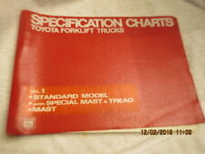 Toyota Factory Oem Forklift Trucks Service Manual Specifications Charts Model