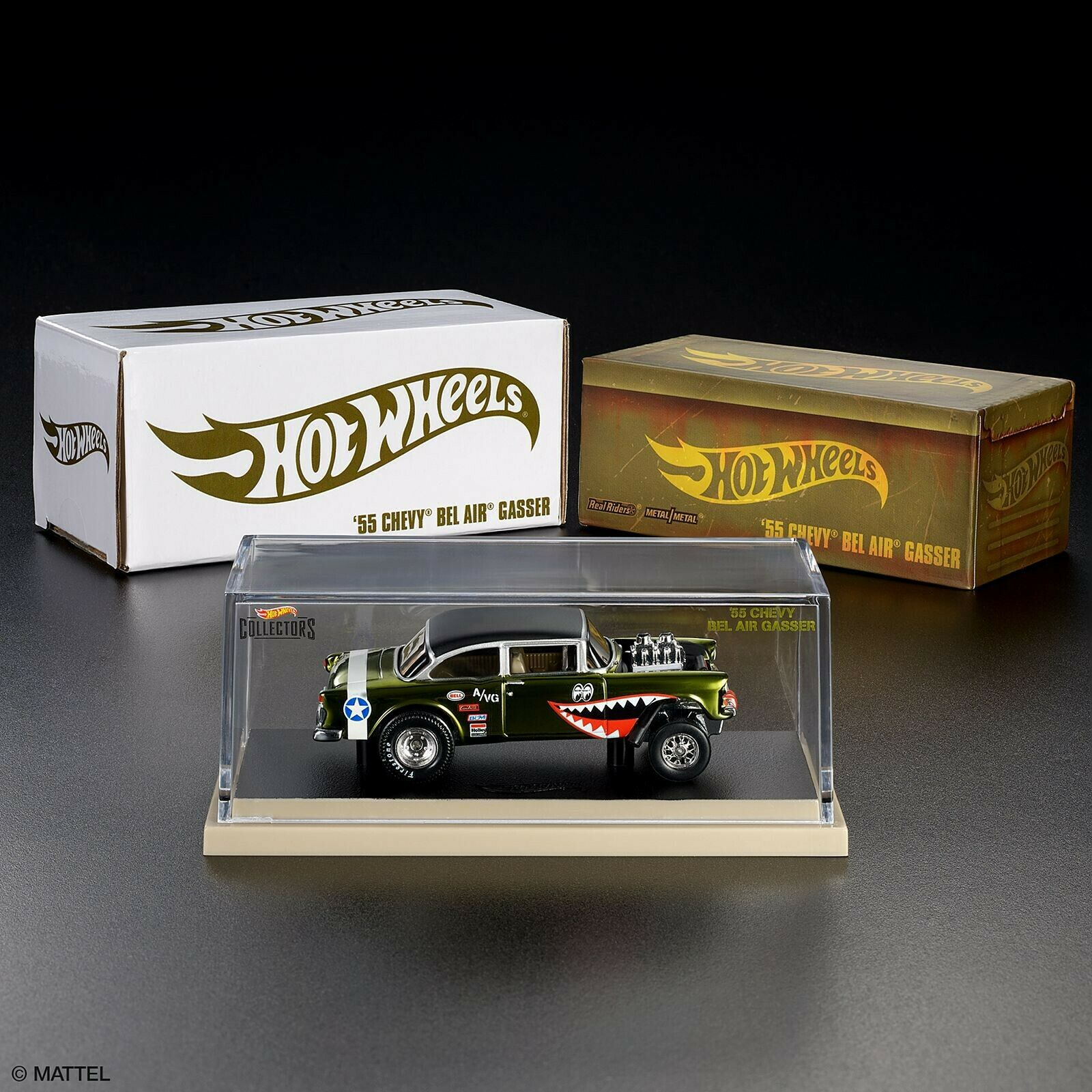 Hot Wheels RLC '55 CHEVY GASSER Flying Tigers WWII - In Hand Ready To Ship  3258
