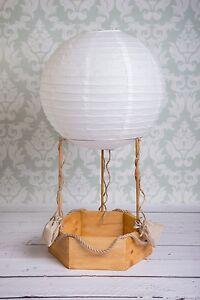 Hot Air Balloon Real Photography Props Newborn Baby Wood Basket
